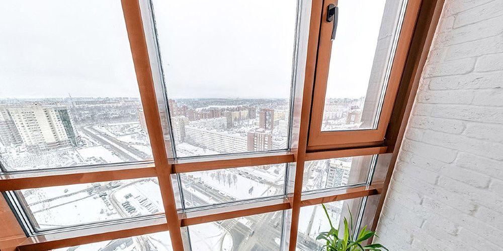 Балкон в зимний период